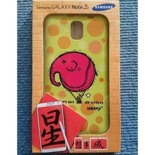 🚚 全新 Samsung GALAXY NOTE3 手機殼 背蓋 大象 普普風 圓點 黃色 #一百均價