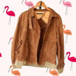 Unisex Brown denim jacket