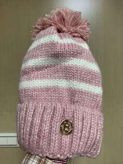🚚 粉紅毛帽