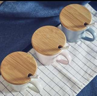 2pcs Cup cover/lid (bamboo)