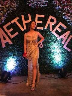 Apartment Eight gold gown for rent