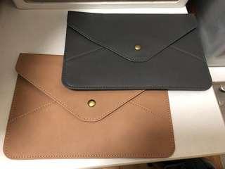 Ladies men A5 Envelope clutch Bag faux leather purse wallet document file