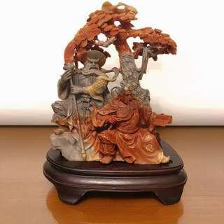 壽山石藝術。關公