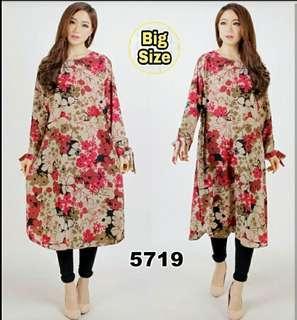 JUMBO TUNIK DATURA HO MAROOn FIT TO XXL #jumbo kemeja dress  #atasan muslim #flower big dress