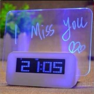 Romantic Digital Alarm Clock with LED Message Board [CR0037]