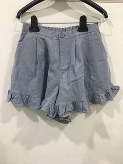 🚚 #一百均價 全新灰藍伸縮腰褲裙