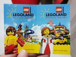 2x LEGOLAND Theme Park tickets