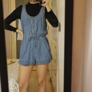 Forever 21 Denim Romper / Shorts