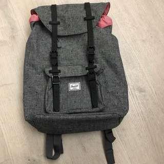 Herschel 灰色背囊 細size grey backpack