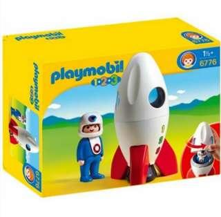 Playmobil 1.2.3 Moon Rocket - 6776 (Very rare and out of production!)