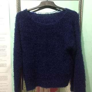 Fur Navy Sweater