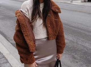 Forever 21 teddy boucle oversized jacket