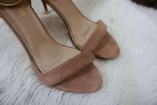Nude Pink Block Heels SIZE 9