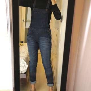 H&M Dark Wash Denim Jumper / Dungarees / Overalls