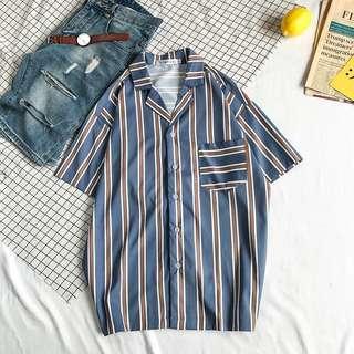 Light Blue Retro Shirt