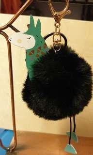 毛球動物吊飾,鑰匙圈
