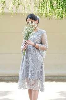 #CNY2019 Lily Lace Dress in Silver