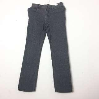 Jeans Loose Denim Pants Straight Cut Jeans With Pocket Jeans Dark Grey Jeans Muslimah Jeans