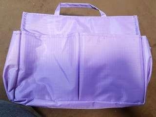 Purple Handbag Insert with Handles