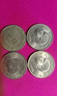 🚚 台灣民國60~68年發行大五元錢幣,每個30元,總共30個。