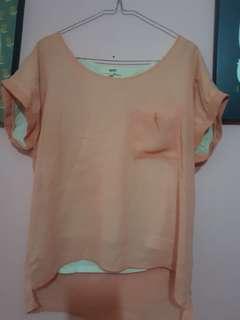 Baju santai orange