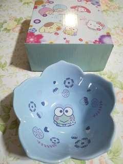 [割價] 7-11 keroppi •花雨•花語•花形陶瓷碗