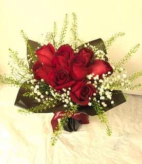 ❤情人節玫瑰花束❤ 鮮花 紅玫瑰 Valentine's Day gift 包送香港, 九龍, 偏遠地方另收付加費