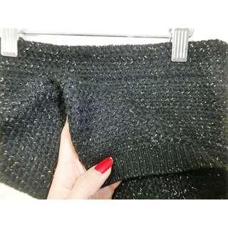 正韓店購入針織素材金蔥鬆緊腰身超辣女神包臀短裙 迷你裙#一百均價