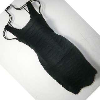 黑色彈性包臀洋裝 連衣裙 #一百均價
