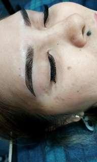 Eyelash extensions n eyebrow embroidery