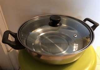 全新 不透鋼打邊爐鍋連蓋 直徑10吋