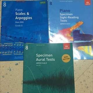 Grade 8 Piano Exam Book 8級鋼琴考試書