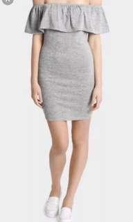 MISS SHOP grey off shoulder dress (BNWT)