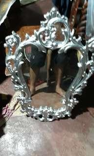 antique mirror with pure zinc frame