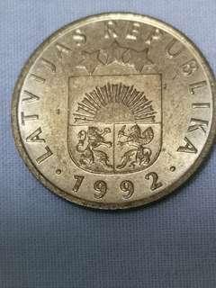 拉脱維亞 1992 5分 硬幣(G288)