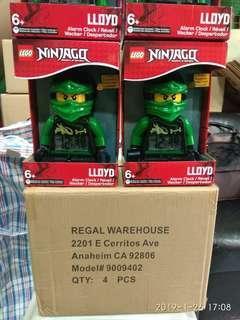 Lego鬧鐘樂高 蝙蝠俠綠忍者…… 微瑕疵… 不影響使用…特價清貨140順豐到付