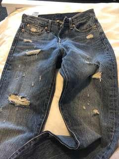 Wedgie ripped Levi's 26