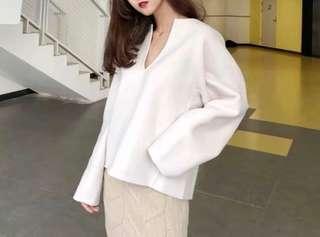 💯high quality & stylish: 90% wool pearl top