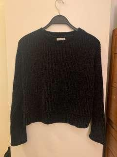 Dark blue velvet sweater 68