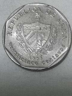 古巴 1998 25分 硬幣(247)