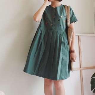 泰國小狐狸連身裙-綠色