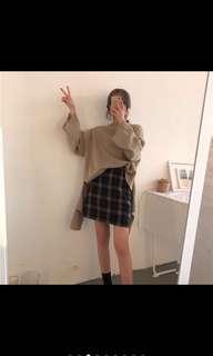 🚚 韓國黑白格紋裙子
