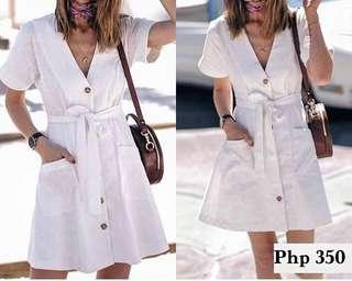 REPRICED! NEW Button Down White Dress
