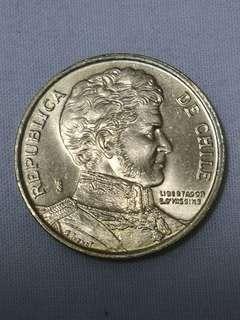 智利 1997 10此索  硬幣 ( 628)