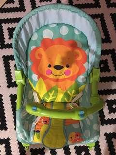 Baby throne bouncer/rocker