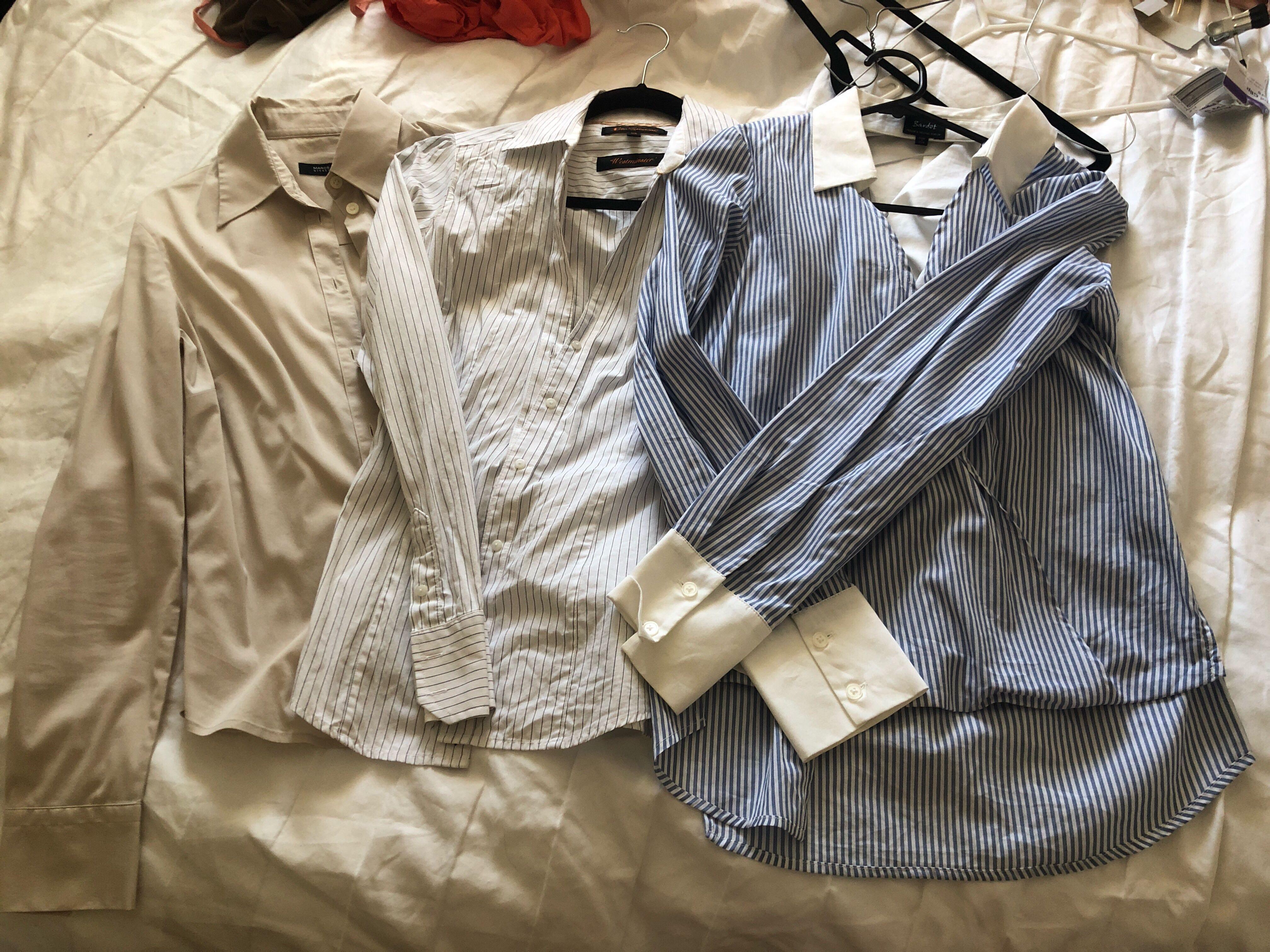 3 designer women's work shirts