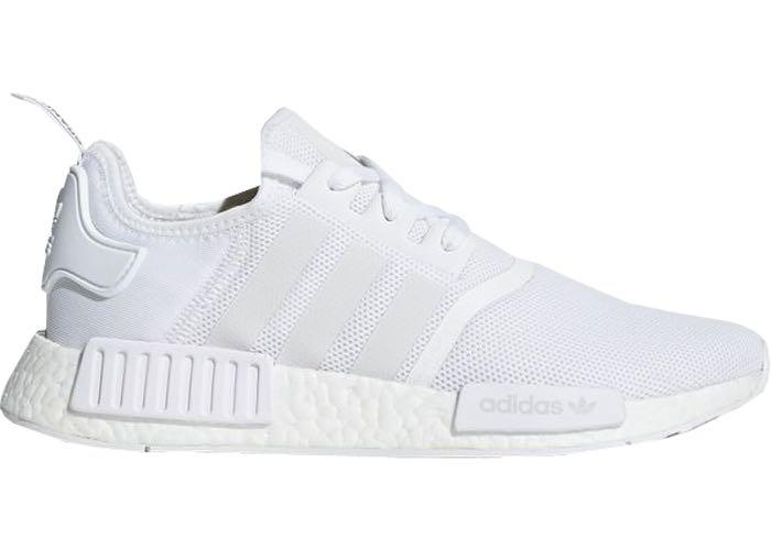 newest e2df7 b6119 ADIDAS NMD R1 (White/Trace Grey), Women's Fashion, Shoes ...