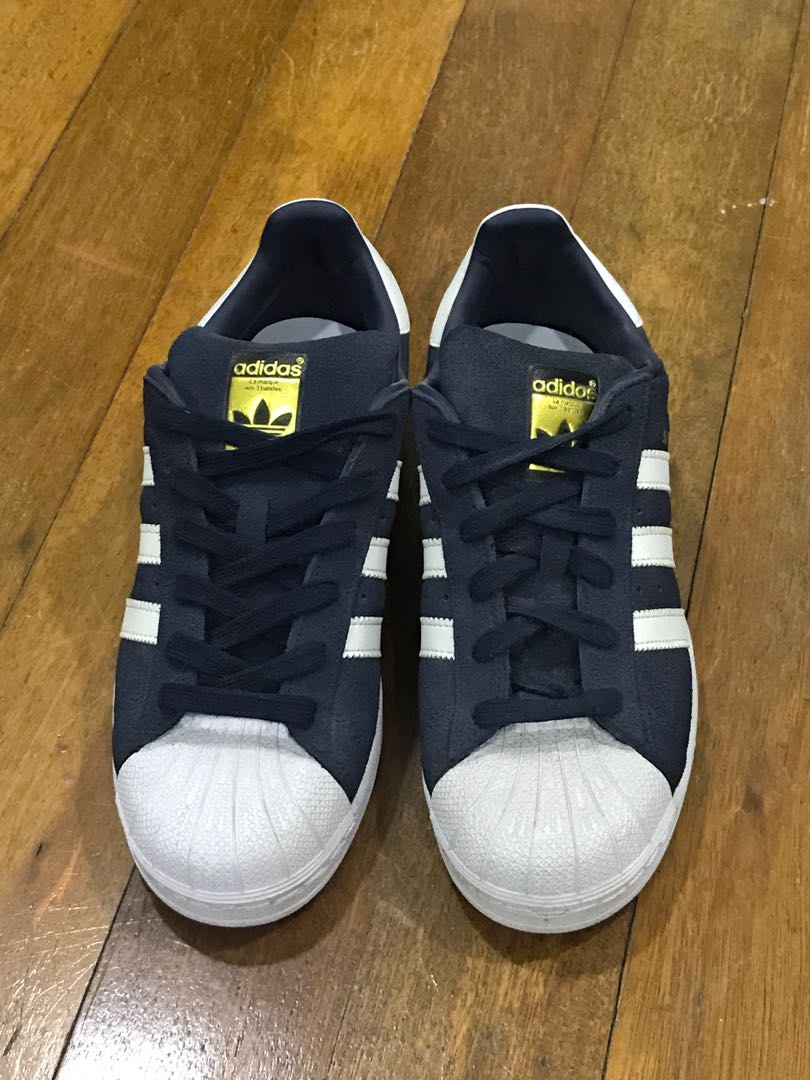 new style a318a f7b2a ADIDAS SUPERSTAR 80S DLX SUEDE (COLLEGIATE NAVY  VINTAGE WHI