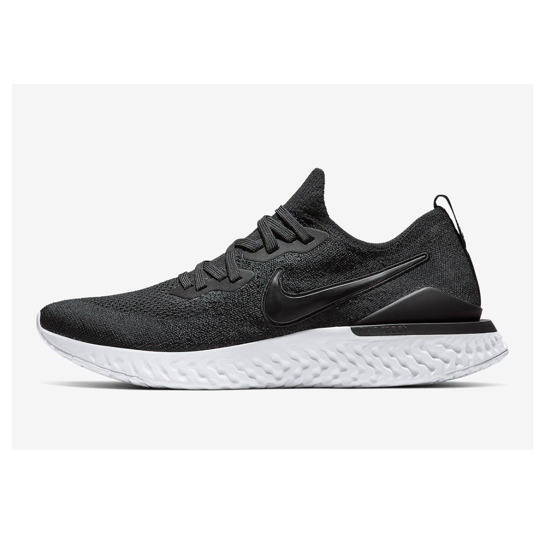 2a5590ea874f5 Authentic Nike Epic React Flyknit 2 Black   White