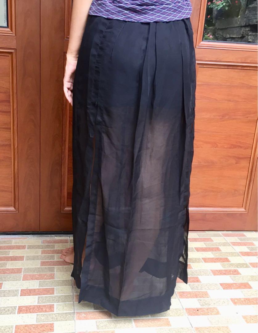 Black see through skirt
